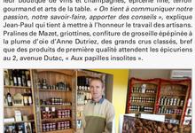 "Article de presse ""Vosges-Matin"""