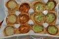 5 x 12 Mini Bouchées Mixte Bourguignonne/Provencale/Roquefort
