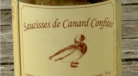 Saucisses de Canard Confites