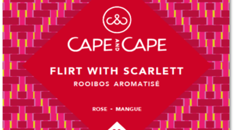 cape and cape - flirt with scarlett - rooibos - aromatisé - infusette - sachet individuel