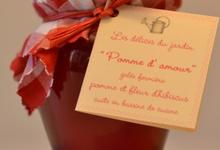 """""""Pomme d'amour"""", gelée de pomme à l'hibiscus"""