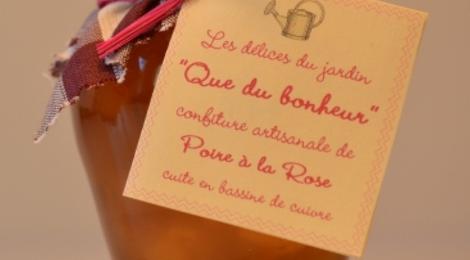 """""""Que du bonheur"""", confiture de poire à la rose"""