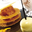 Sucette au Chaource, mille-feuille et zestes d'orange