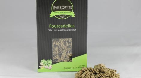 Fourcadelles Pâtes au blé dur Hélices ail et basilic