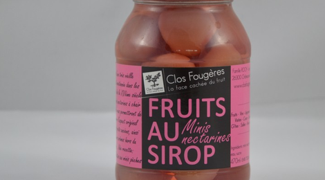 Minis Nectarines au Sirop