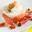 Crème bavaroise à la ricotta et au gingembre, mozzarella aux amandes grillées enroulée de Jambon de Parme