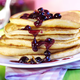 Pancakes à la Sauce aux  Myrtilles et Oranges