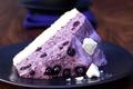Gâteau aux myrtilles à la crème de cassis