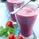 Smoothie aux fraises et aux myrtilles