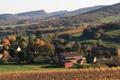 Vue du Domaine situé sur les hauteurs du Mâconnais