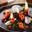 Crottin de Chèvre Cendré Rians, marmelade de courge à la muscade, cœur d'endive acidulée