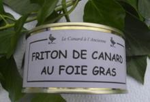 Friton aux foie gras de canard, Ferme de Larcher