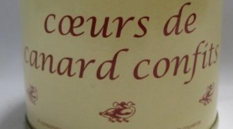 Coeurs de canard confits