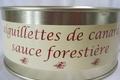 Aiguillettes de canard sauce forestière