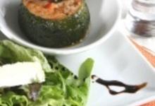 Courgette Farcie Au Fromage De ChÈvre, Jambon Sec Du GÉvaudan Et Tomates