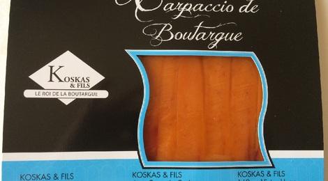 Carpaccio de boutargue