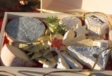 Plateau de fromage fermier (chèvre et vache) de la Ferme de Cabriole