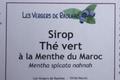 Sirop de THE VERT à la Menthe marocaine