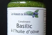 Condiment «BASILIC à l'huile d'olive»