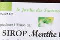 Sirop de Menthe