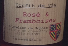 Confit de vin rosé & framboises