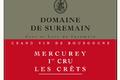 Domaine de Suremain - MERCUREY 1er CRU Les CRETS