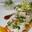 queues de gambas à l'huile d'aromates, tartare mariné aux épices, chutney d'ananas et vinaigrette de mangue