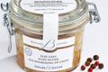 foie gras d'oie entier aux bourgeons de cassis.