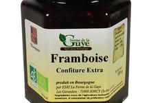 Confiture artisanale bio de Framboise épépinée