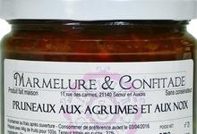 Confiture de pruneaux aux agrumes et aux noix