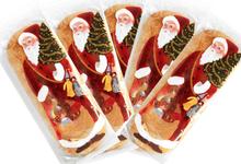 Lot de 5 Pères Noël Glacés