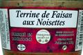 Terrine de Faisan aux noisettes