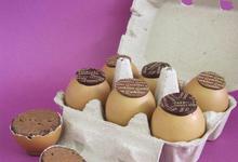 oeufs garnis de chocolat
