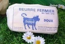 Beurre fermier au lait cru - Ferme de Champel