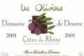 domaine de Deurre, les oliviers