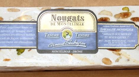 Barre de 200g de nougat tendre de Montélimar