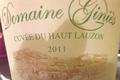 Domaine Ginies Côtes Du Rhône Cuvée Du Haut Lauzon