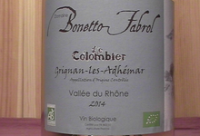 Grignan Les Adhemar Domaine Bonetto Fabrol Le Colombier
