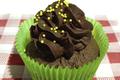 "Cake infusion de gingembre, topping chocolat noir ""Eclats fèves de cacao"" 72%."