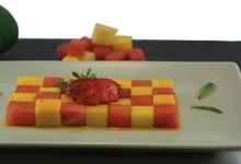 salade de fruits au sirop de safran
