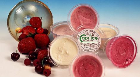 """Glaces au lactosérum de chèvre.  Les """"Capr'ice"""""""
