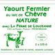 yaourt fermier au lait de chèvre