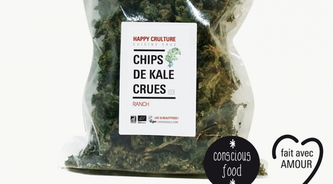 "Chips de Kale Crues ""Ranch"""