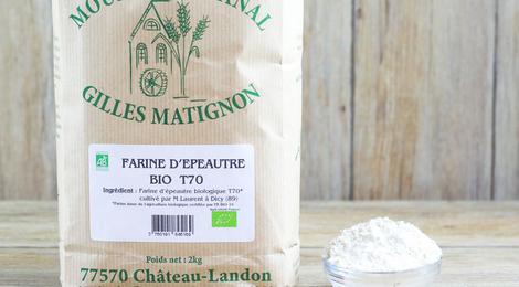 Farine d'épeautre BIO T70 , moulin Matignon