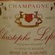 Rosé de saignée Bio, Champagne Christophe Lefèvre