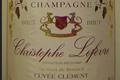 Cuvée Clément Bio, Champagne Christophe Lefèvre