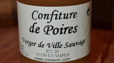 confiture de poire, verger de Villesauvage