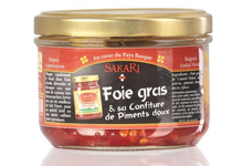 Foie gras de canard entier et sa confiture de piments doux