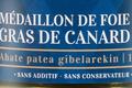 Ferme Uhartia,  médaillon de foie gras de canard
