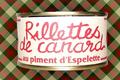 rillette de canard au piment d'Espelette, ferme Iribarne